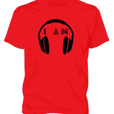 Red Headphone Tee